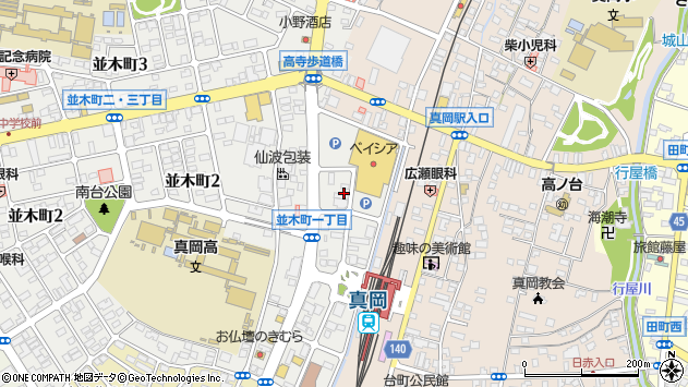 〒321-4361 栃木県真岡市並木町の地図