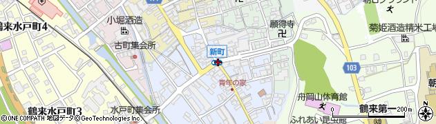 新町周辺の地図
