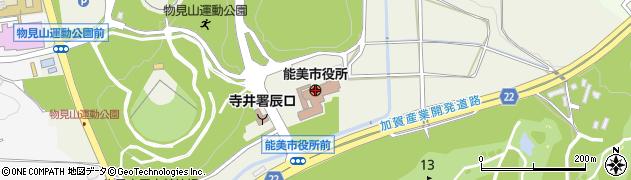 石川県能美市周辺の地図