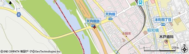 天狗橋詰周辺の地図