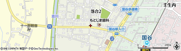栃木県下都賀郡壬生町落合周辺の地図