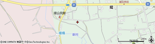 茨城県那珂市堤周辺の地図
