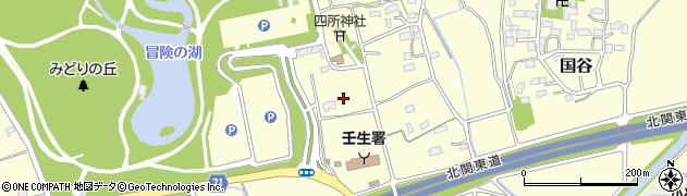 栃木県下都賀郡壬生町国谷周辺の地図