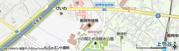 茨城県那珂市周辺の地図