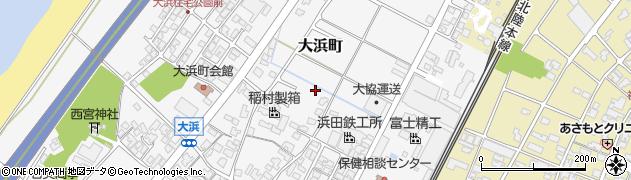 石川県能美市大浜町周辺の地図