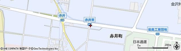 石川県能美市赤井町(ヲ)周辺の地図
