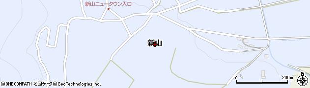 長野県千曲市新山周辺の地図