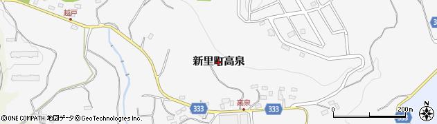 群馬県桐生市新里町高泉周辺の地図