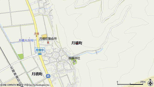 〒920-2104 石川県白山市月橋町の地図
