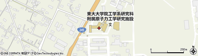 東京大学大学院 工学系研究科附属原子力工学研究施設研究部門ビーム物質相関部門周辺の地図