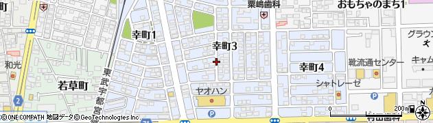 栃木県下都賀郡壬生町幸町3丁目周辺の地図