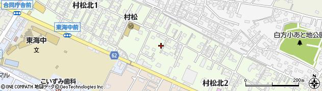 茨城県東海村(那珂郡)村松北周辺の地図