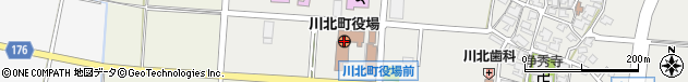 石川県能美郡川北町周辺の地図