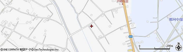 茨城県那珂市戸崎周辺の地図
