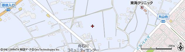 茨城県東海村(那珂郡)舟石川周辺の地図