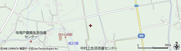 長野県大町市常盤(清水)周辺の地図