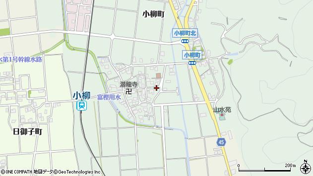 〒920-2103 石川県白山市小柳町の地図