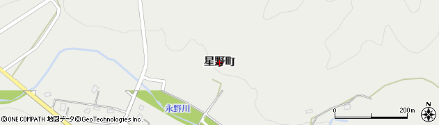 栃木県栃木市星野町周辺の地図