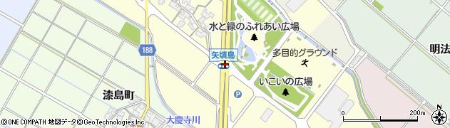 矢頃島周辺の地図