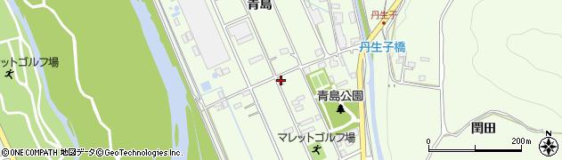 長野県大町市社(青島)周辺の地図