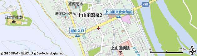 長野県千曲市上山田温泉周辺の地図