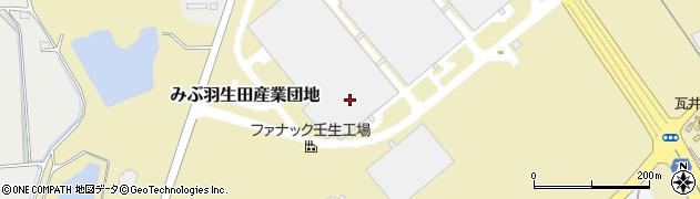 栃木県下都賀郡壬生町みぶ羽生田産業団地周辺の地図