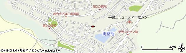 茨城県那珂市平野周辺の地図
