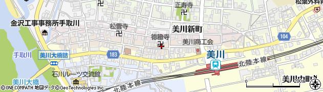 徳證寺周辺の地図