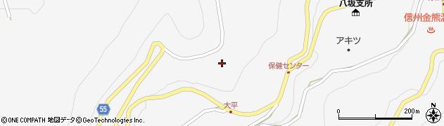 長野県大町市八坂(大平)周辺の地図