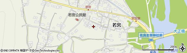 長野県千曲市若宮周辺の地図
