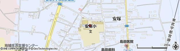 栃木県下都賀郡壬生町安塚周辺の地図