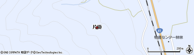 富山県富山市片掛周辺の地図