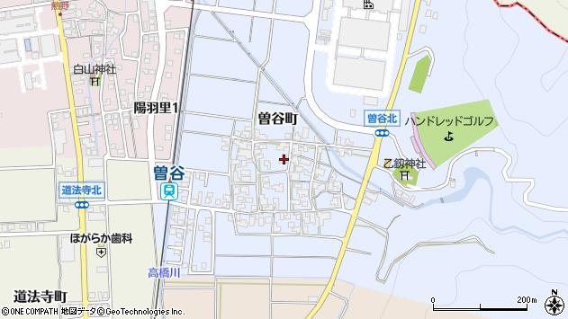 〒920-2101 石川県白山市曽谷町の地図