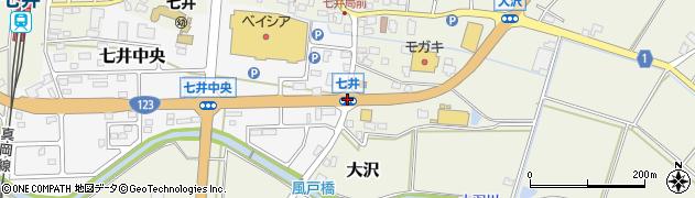 七井周辺の地図