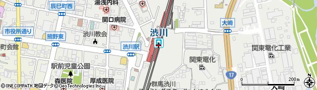 群馬県渋川市周辺の地図