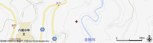長野県大町市八坂(矢下)周辺の地図