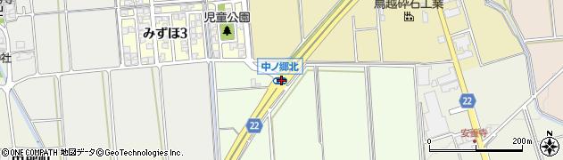 中ノ郷北周辺の地図