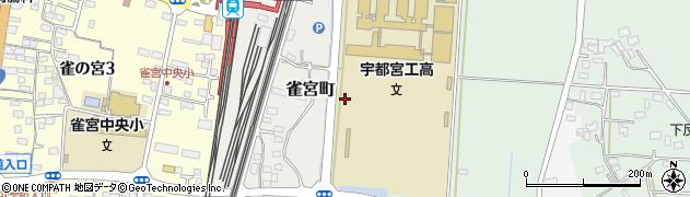栃木県宇都宮市雀宮町周辺の地図