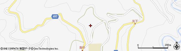 長野県大町市八坂(梨平)周辺の地図