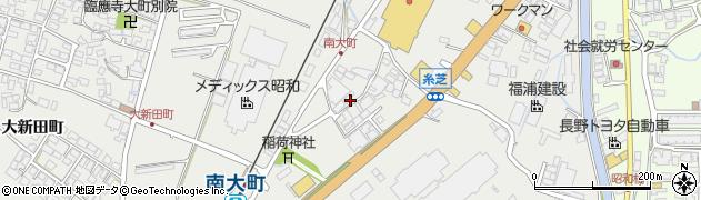 長野県大町市大町(糸芝町)周辺の地図