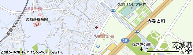日本貨物検数協会日立事務所周辺の地図