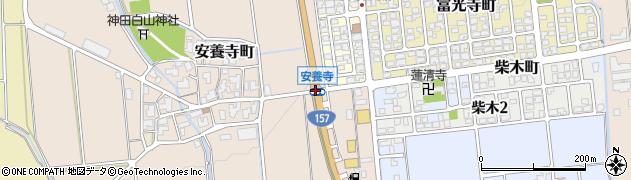 安養寺周辺の地図