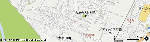 長野県大町市大町(大新田町)周辺の地図