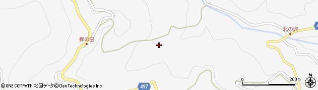 長野県大町市八坂(押の田)周辺の地図