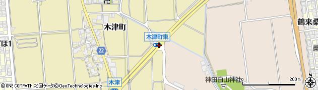 木津町東周辺の地図