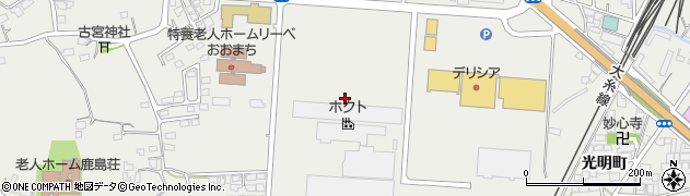 長野県大町市大町(若宮町)周辺の地図
