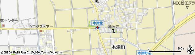 木津北周辺の地図