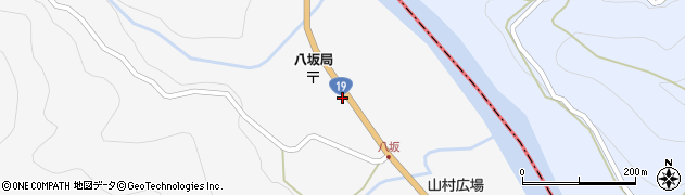 長野県大町市八坂(野平北)周辺の地図