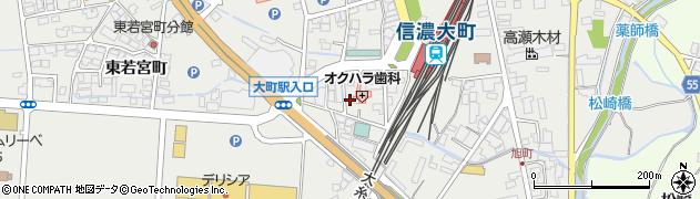 長野県大町市大町(仁科町)周辺の地図