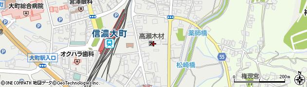 長野県大町市大町(旭町)周辺の地図